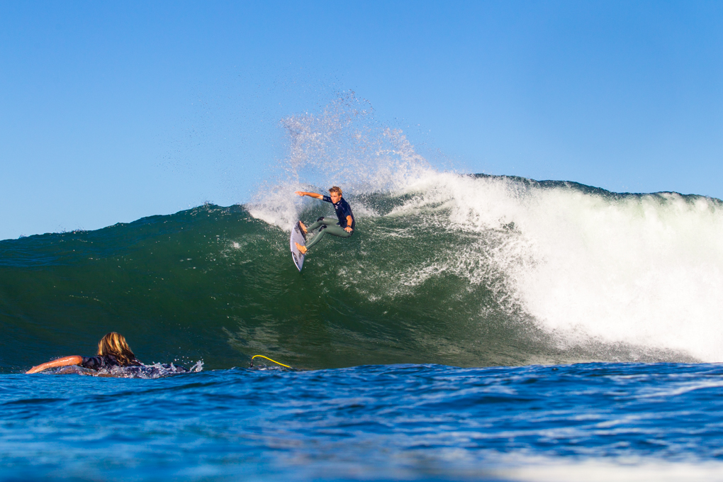 Sheldon laying it down for Reef paddling back out.