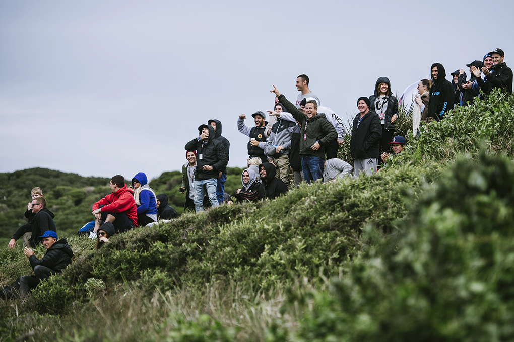 Spectators are seen during the Red Bull Cape Fear in Sydney, Australia on June 6, 2016. // Brett Hemmings / Red Bull Content Pool // P-20160606-00752 // Usage for editorial use only // Please go to www.redbullcontentpool.com for further information. //